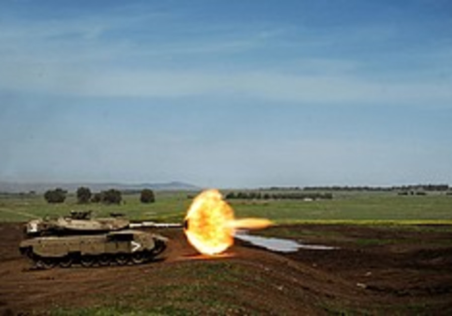 IDF to test overhead exploding shell