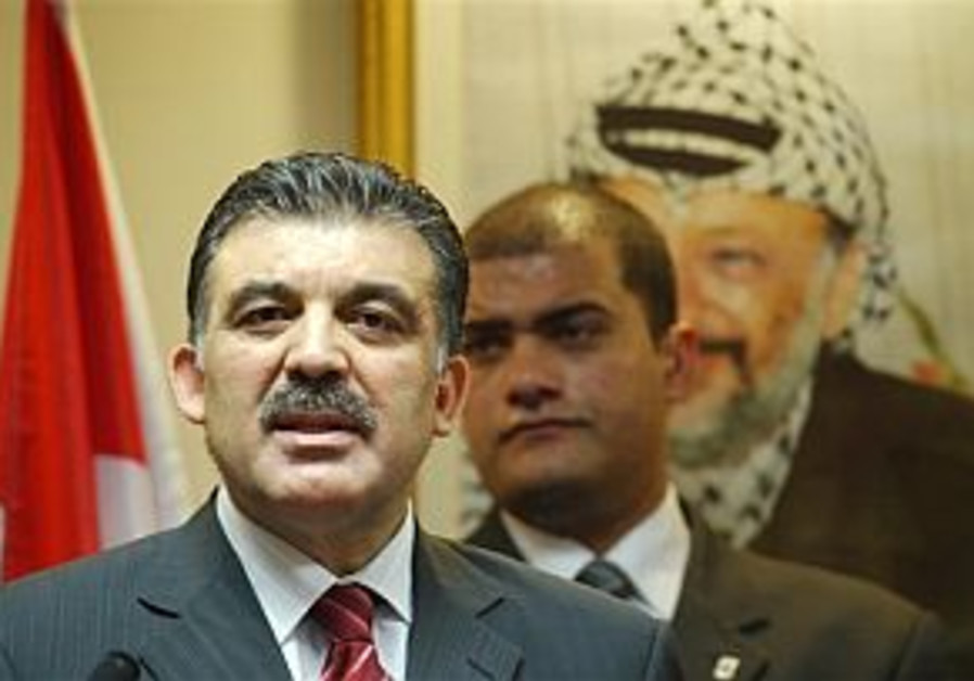 turkish foreign minister in ramallah