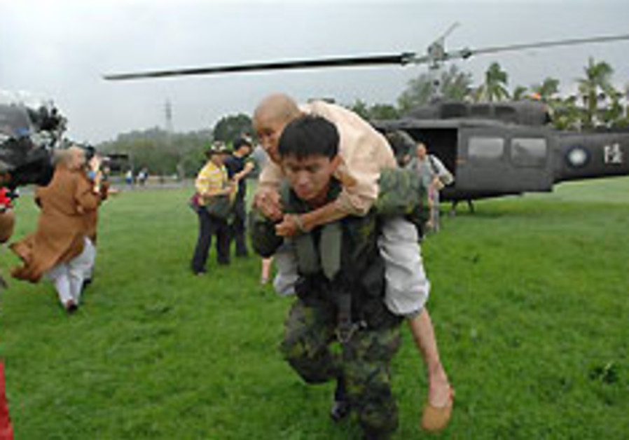 Taiwan military rescues some 260 from mudslide