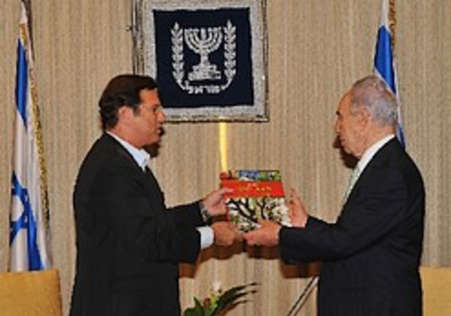 Italian KKL-JNF Delegation Visits President Peres on his 86th Birthday