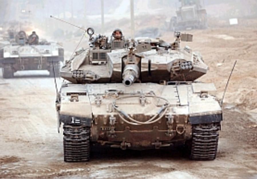 man driving merkava tank 298