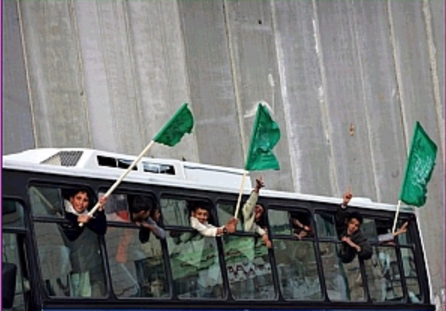 hamas campaign bus flags 298