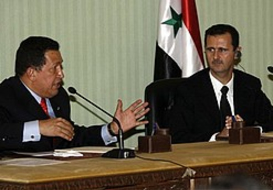 Chavez blasts Israel while in Syria