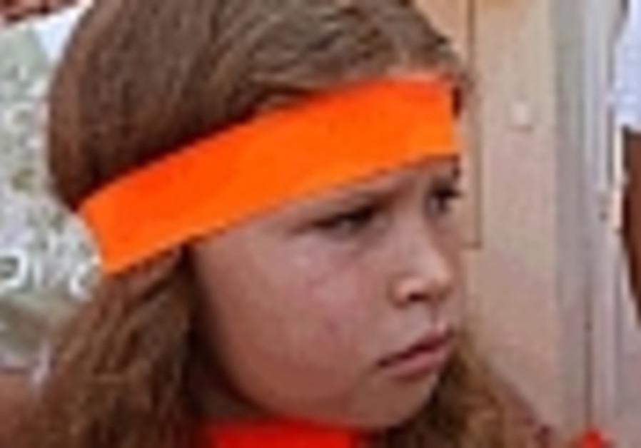 girl with orange band around head 88