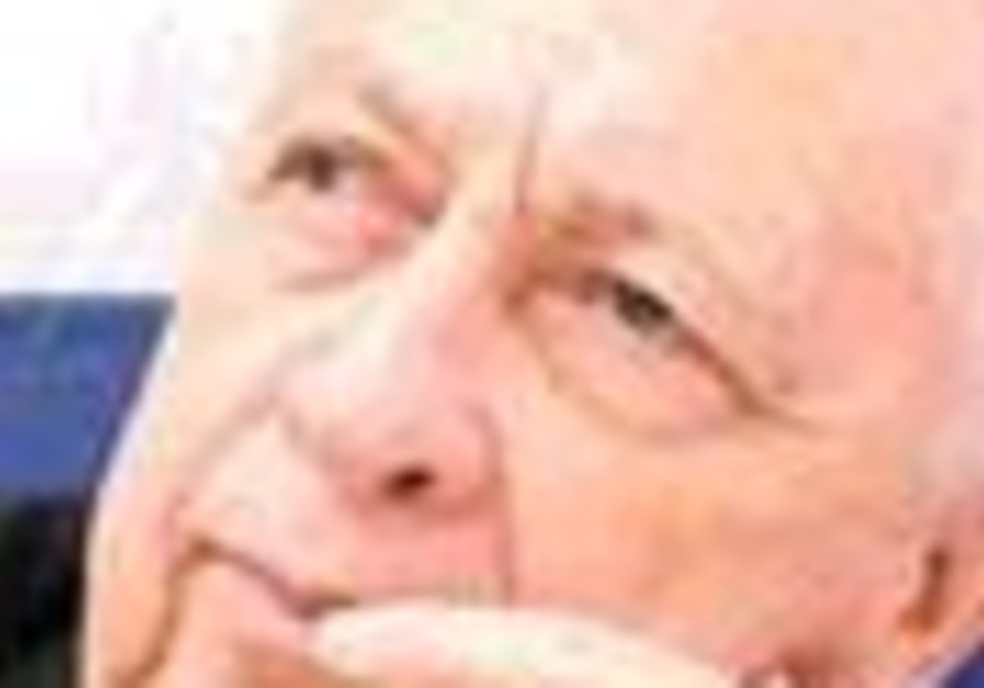 ariel sharon ponders finger at mouth 88