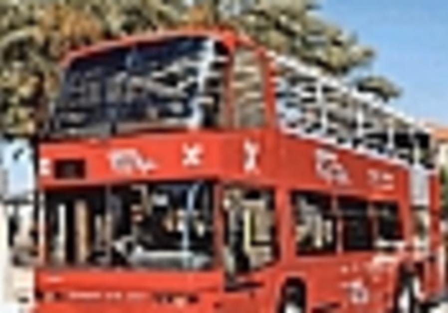 jerusalem tour tourist bus 99 double decker