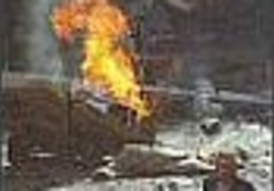 fire burns in iraq 88