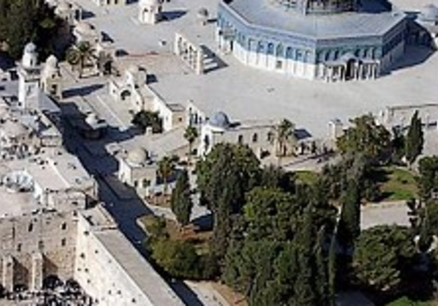 aerial view of temple mount and western wall 298