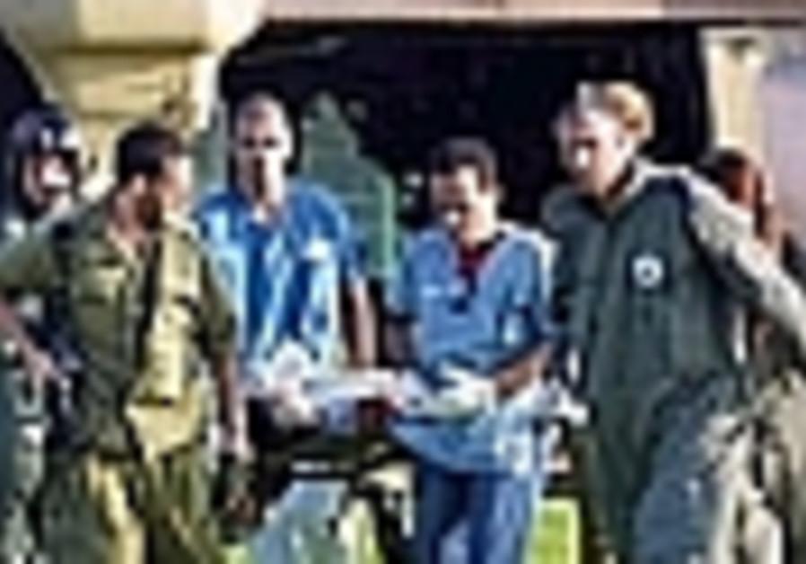 evacuating injured