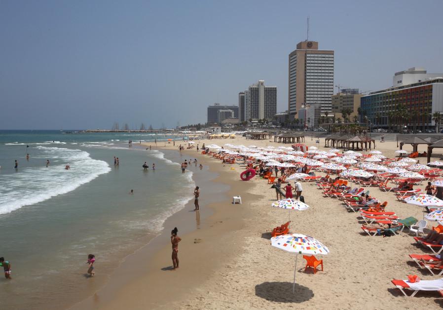 Tel Aviv beach in the summer. MARC ISRAEL SELLEM