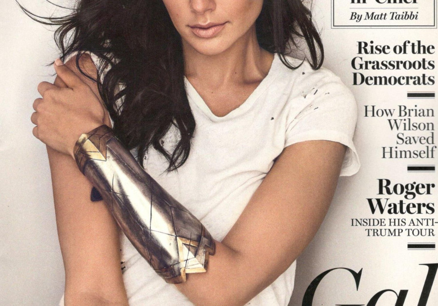 Actress Gal Gadot is on the cover of the September issue of 'Rolling Stone' magazine.