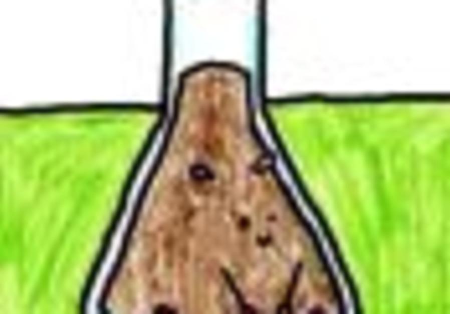 cartoon test tube