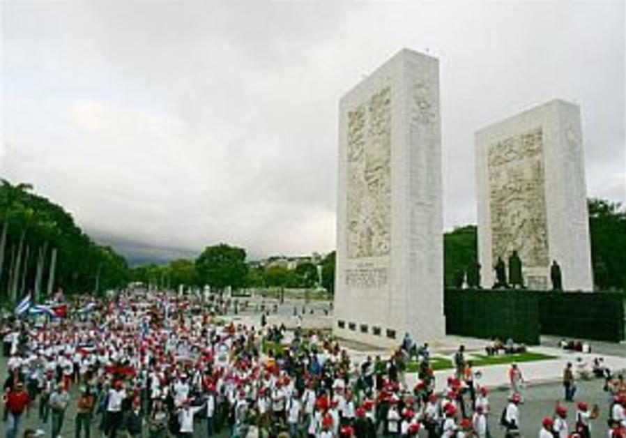 Activists rally against Iraq war in Venezuela