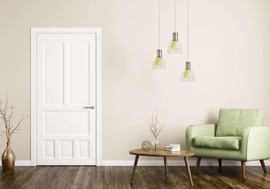An interior door in a luxury designed home