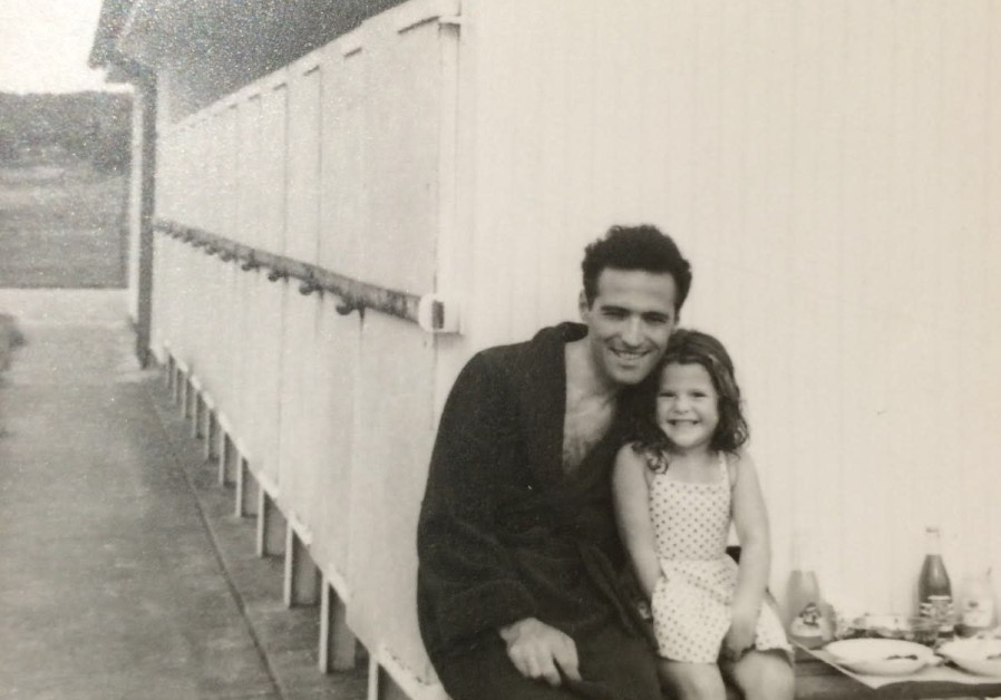 Rebecca Floer as a child with her father. (Courtesy Kornfeld Family)