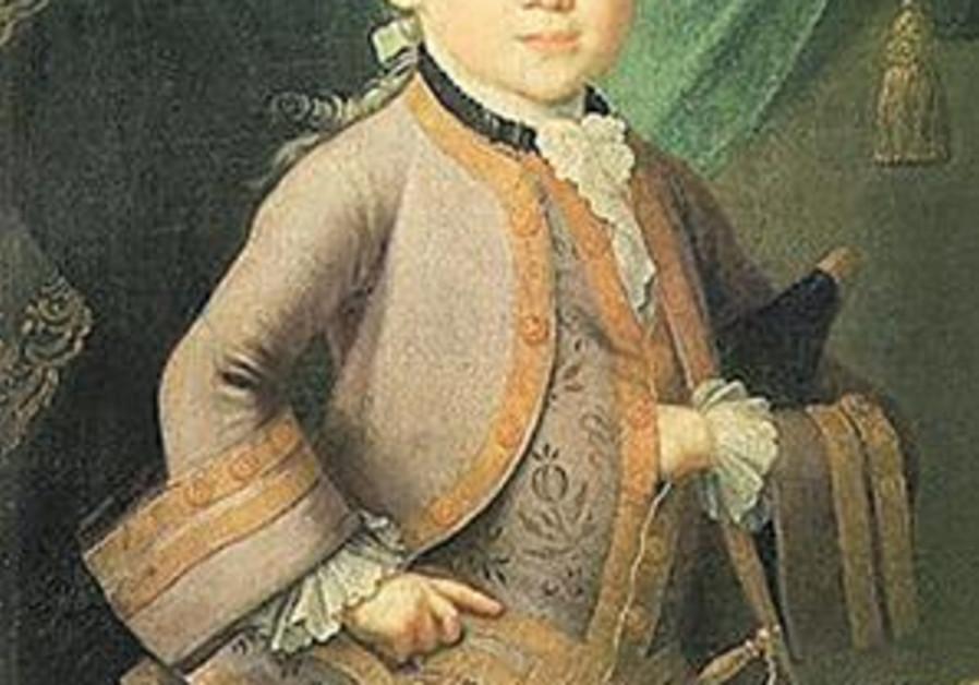portrait of mozart as kid