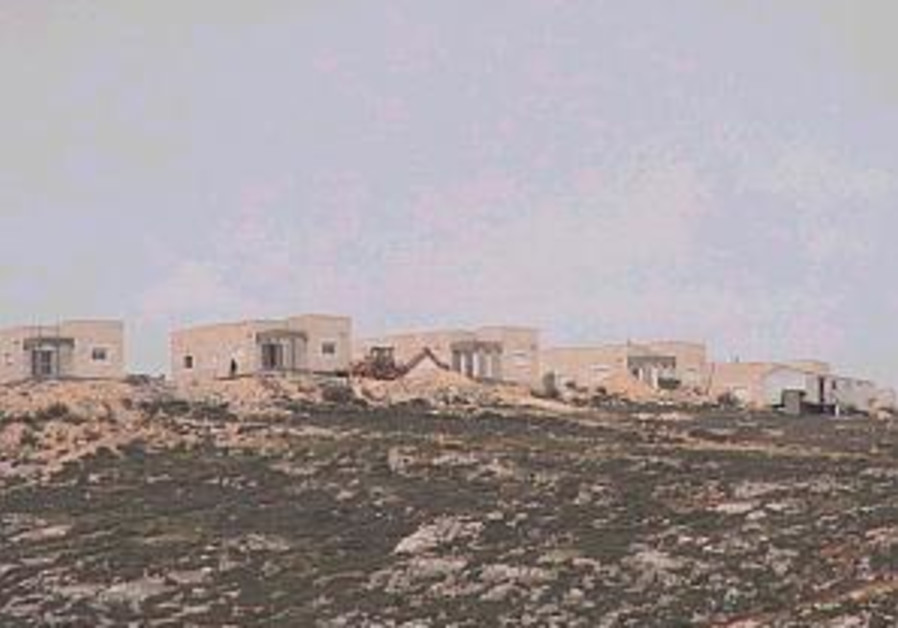 amona houses on hill