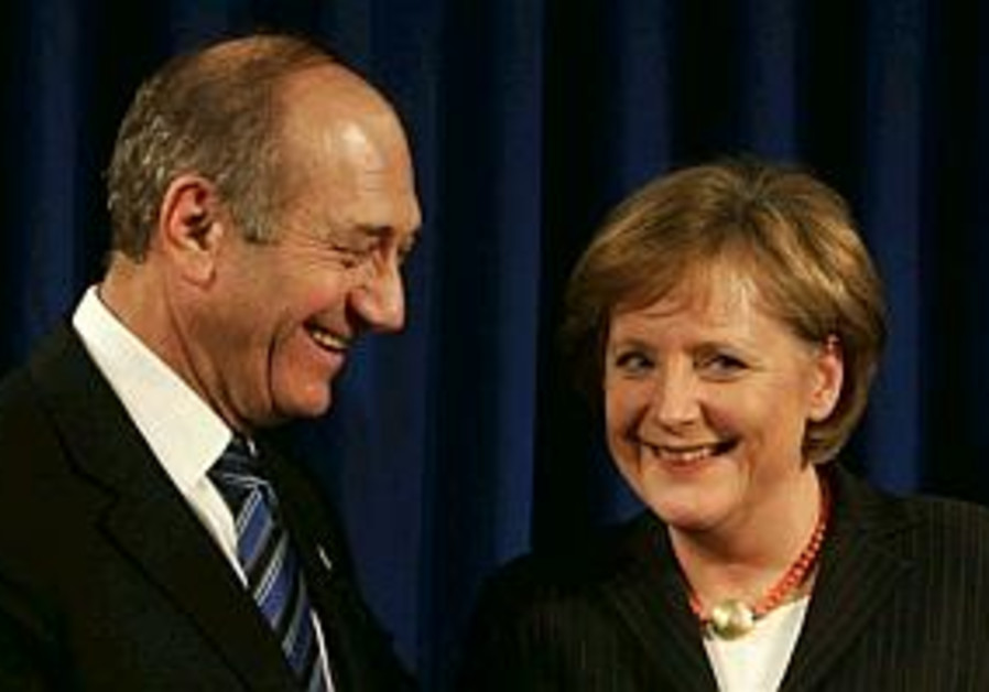 ehud olmert angela merkel meeting