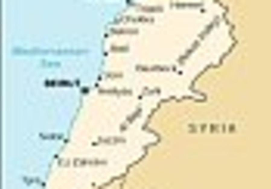 lebanon syria map 88