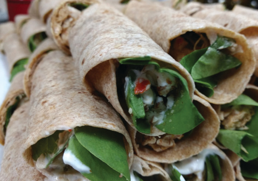 Chicken wrap with a kick.