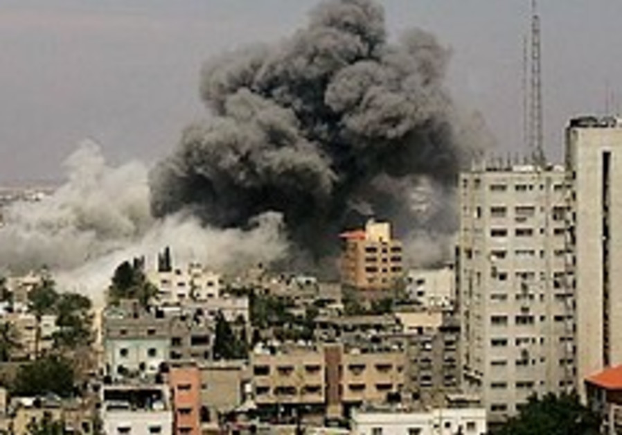 The aftermath of an IAF strike in Gaza