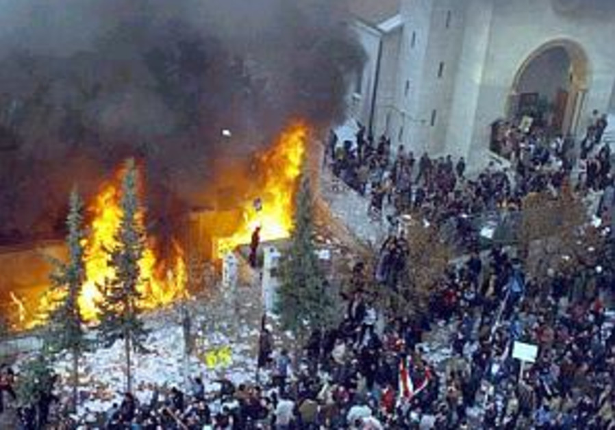 Damascus: Embassies set on fire