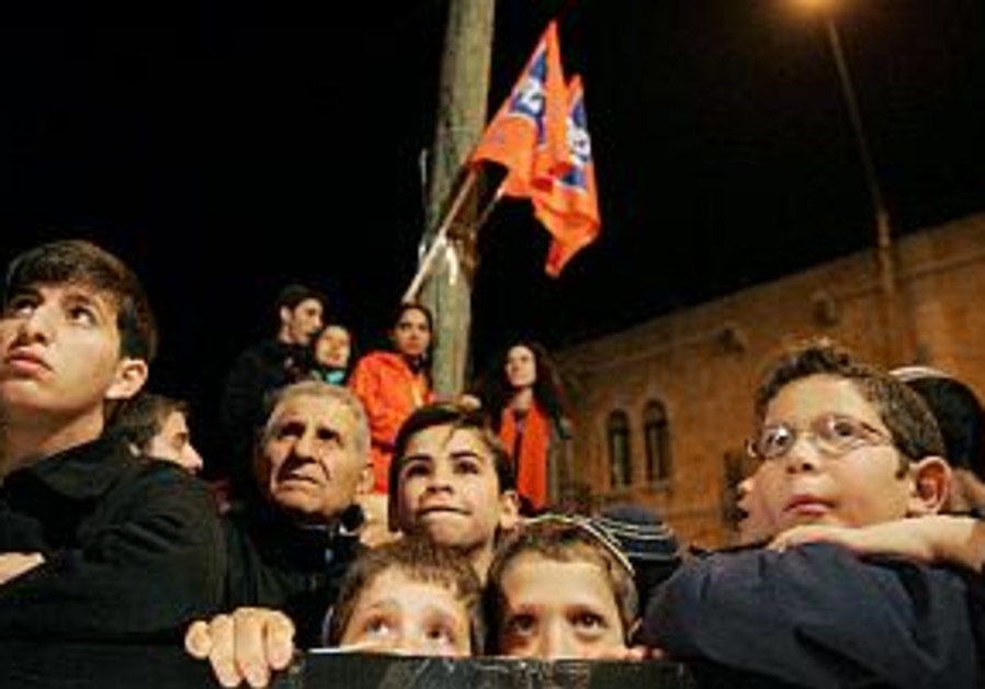 right wing protest children listen orange settlers