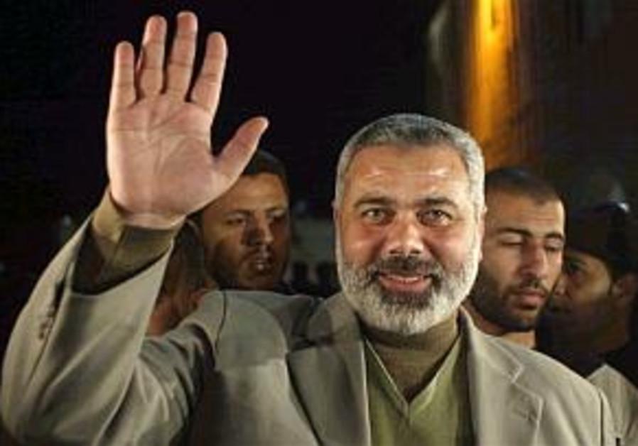ismail haniyeh waving