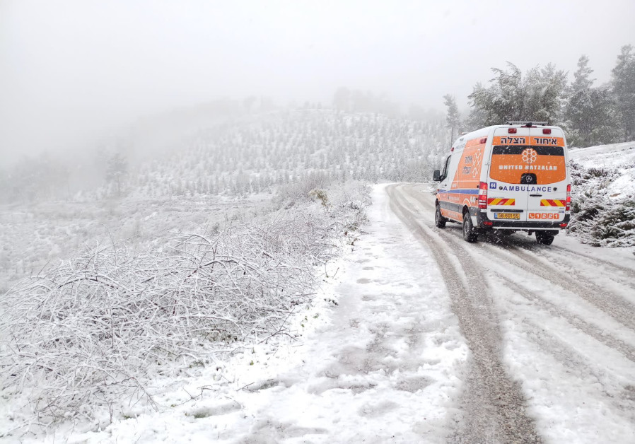 A United Hatzalah ambulance in northern Israel(United Hatzalah)