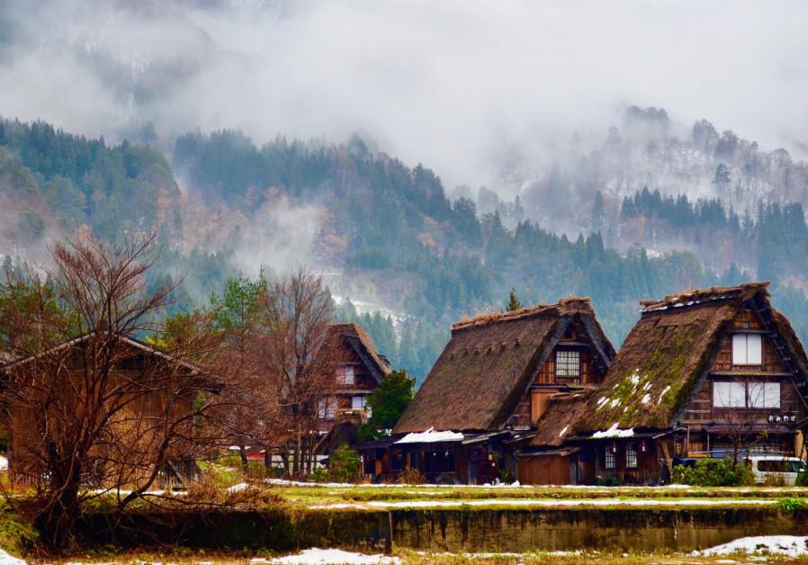 Fog engulfs Shirakawa-go, a UNESCO World Heritage Site in Japan's Gifu prefecture. (Michael Wilner, November 2017)