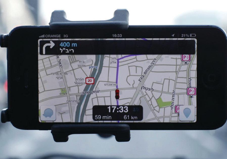 Waze, an Israeli mobile satellite navigation application, has revolutionized driving (Reuters/Nir Elias)