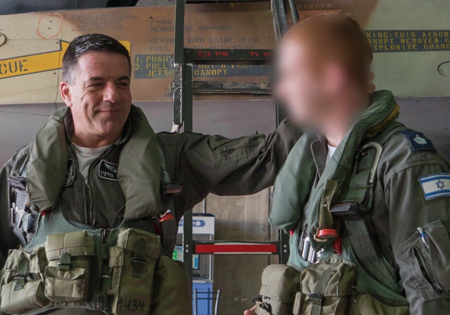 Injured navigator returns to service flying with IAF Chief Major General Amikam Norkin /  IDF SPOKESMAN'S UNIT