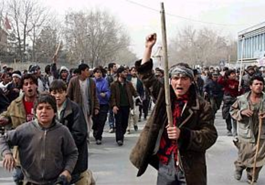 afghan demonstrations cartoon prophet