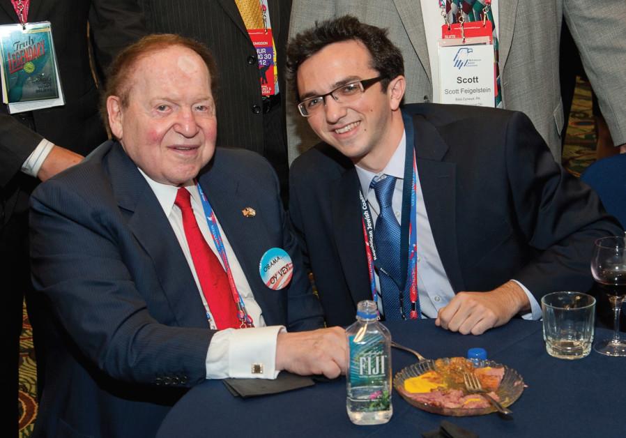 Nass with billionaire philanthropist Sheldon Adelson / Josh Nass