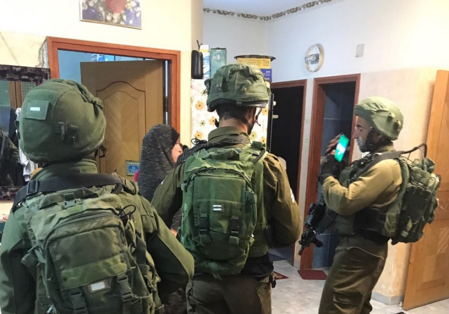 IDF soldiers arresting the brother of terrorist/IDF spokeperson