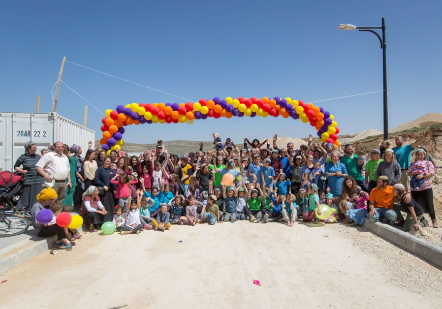 Unveiling the new settlement of Amichai (credit: Ehud Amiton/ TPS)