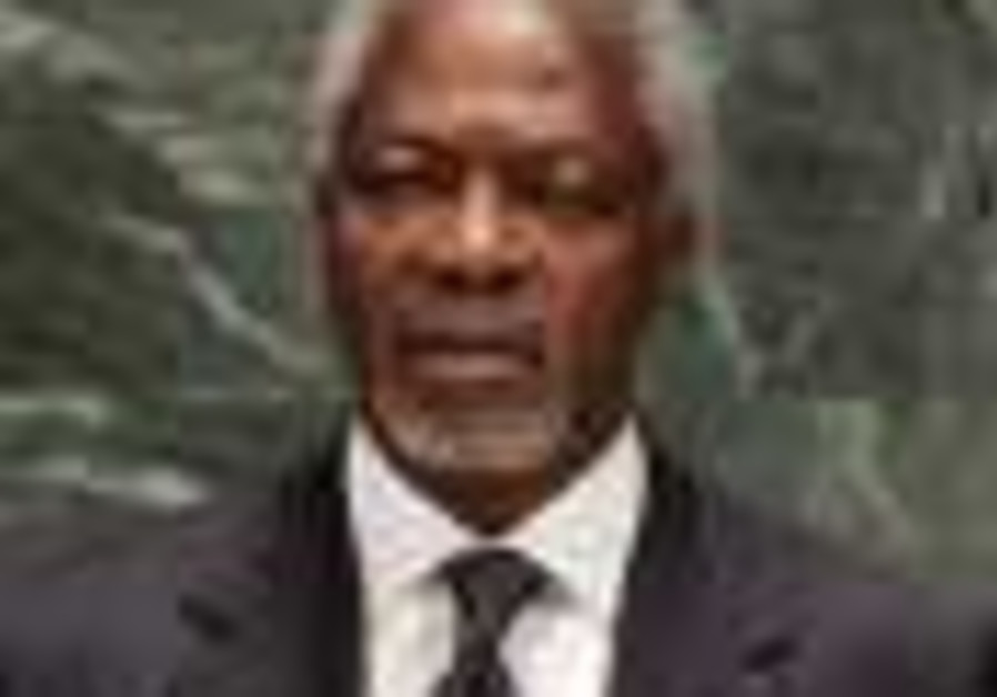 Annan: Palestinians must renounce terror