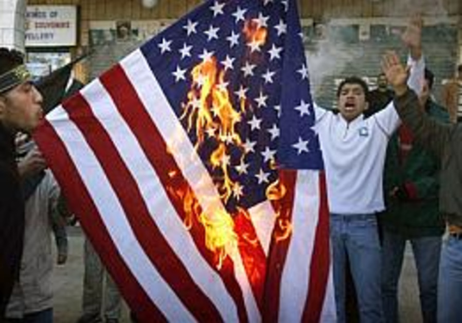 pals burn US flag in bethlehem ap 298