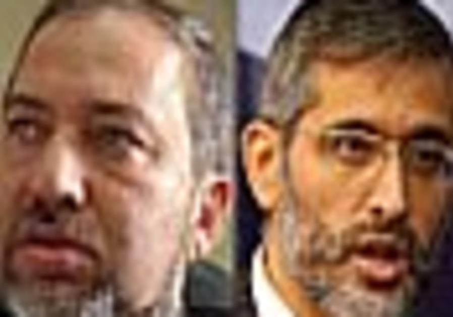 Don't cross red lines with Abbas, Yishai, Lieberman warn Olmert