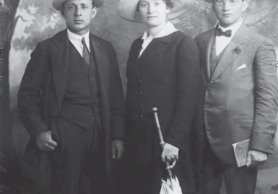 SARAH AARONSOHN with fellow Nili spies Yosef Lishansky (left) and Liova Schneersohn in Cairo, 1917 (Potomac Books)