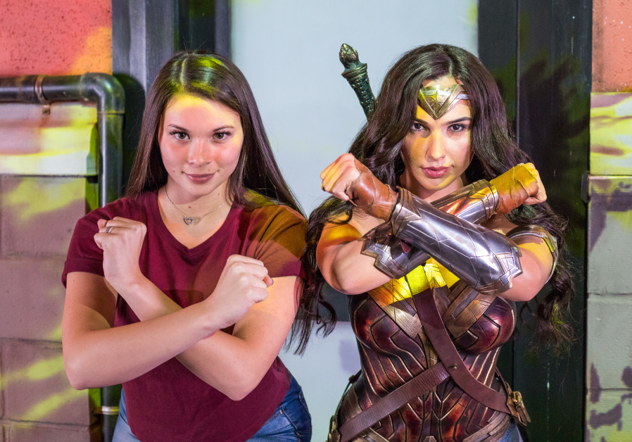 Gal Gadot's Wonder Woman likeness at the Justice League wax figure exhibit at Madame Tussauds in Orlando, Florida (Madame Tussauds)