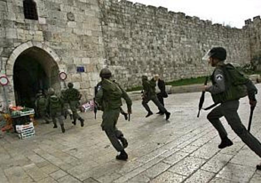 riot police in old city ap