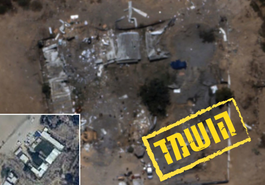 Destruction of the Hamas battalion headquarters in Zeitoun in the Gaza Strip. (IDF Spokesperson's Unit)