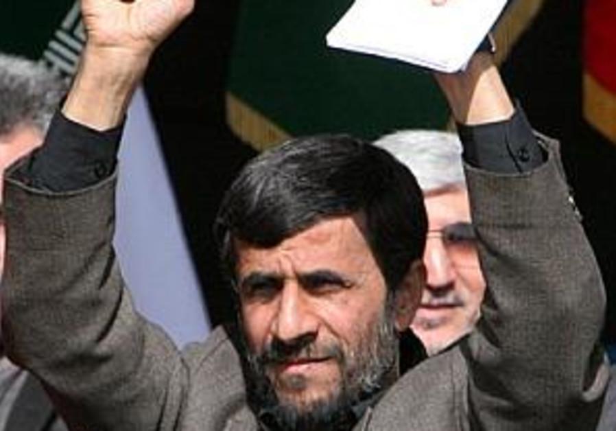 ahmadinejad, hands in air, 298 ap
