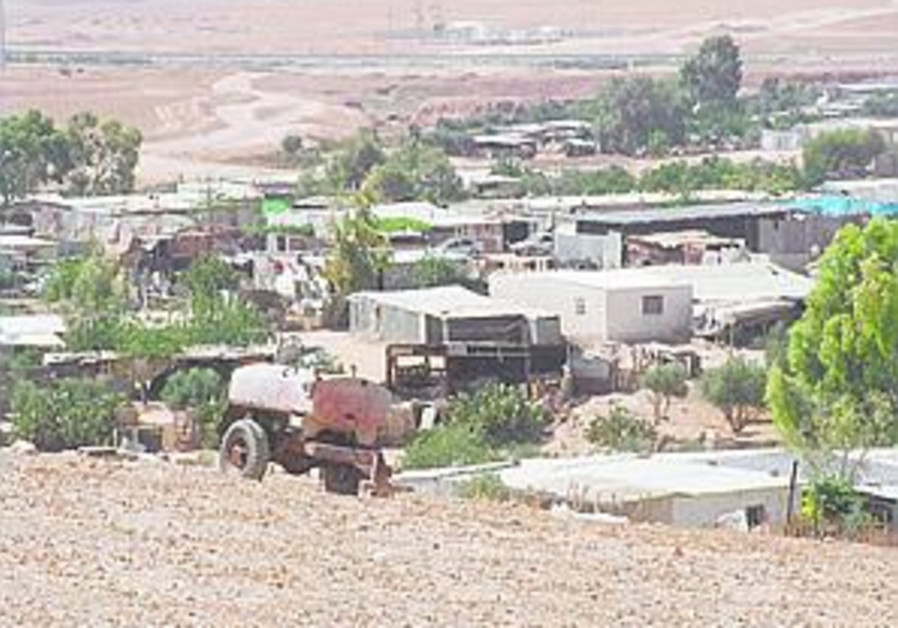 IDF demolishes Beduin huts in W. Bank