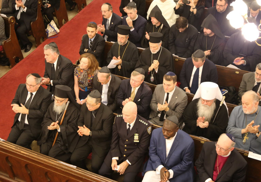 New York's Park East Synagogue during the memorial service for Pittsburgh shooting victims / ISRAEL CONSULATE IN NEW YORK