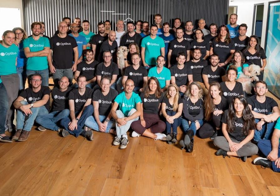 Employees of Tel Aviv-based public transit optimization start-up Optibus. / OPTIBUS