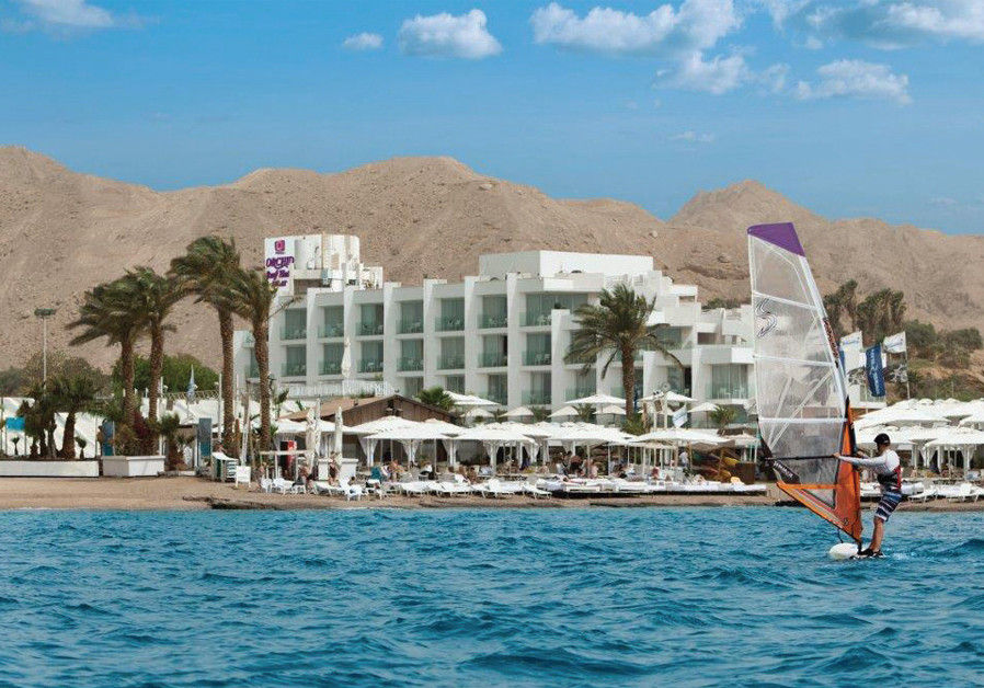 The Eilat Orchid Reef Hotel. ASSAF PINCHUK