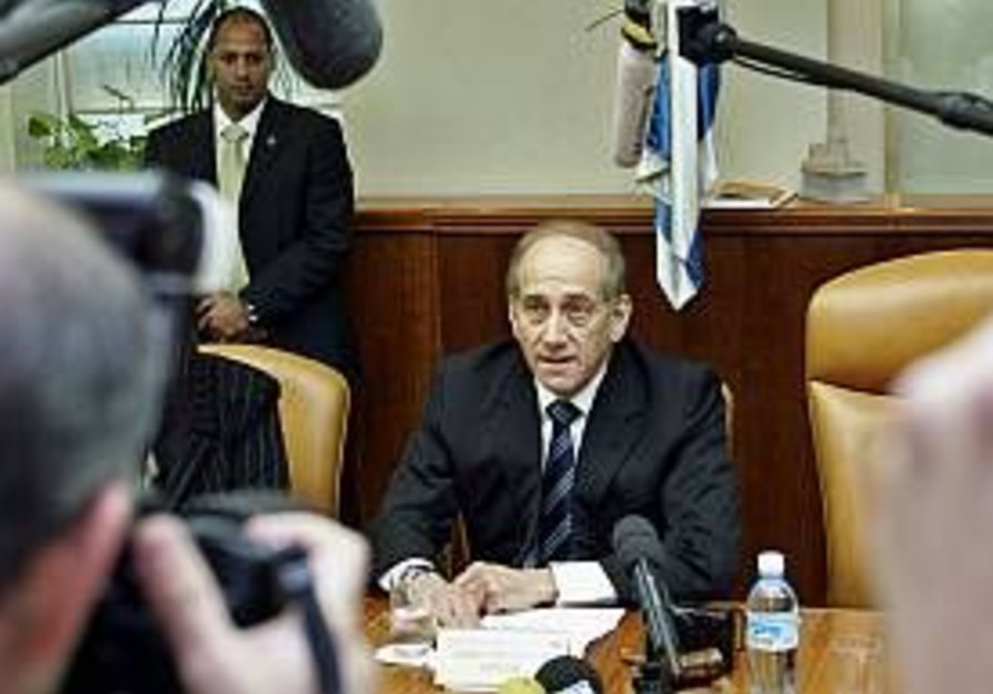 olmert at cabinet 298 ap