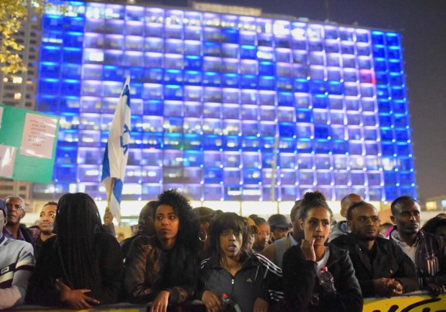 Ethiopian-Israelis in massive Tel-Aviv protest in memory of Yehuda Biagda / A. SHOSHANI